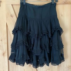 I•N•C Beautiful Black Skirt with side Zip size 2